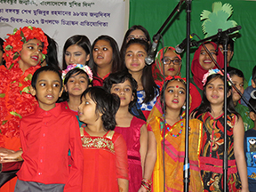 04_Children performing songs on Bangabandhu in Regina, Saskatchewan